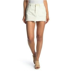 Free people denim mini skirt. Size 31